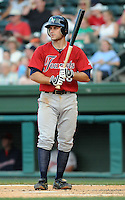 June 2, 2009: Infielder Jimmy Cesario (18) of the Asheville Tourists, Class A affiliate of the Colorado Rockies, in a game against the Greenville Drive at Fluor Field at the West End in Greenville, S.C. Photo by: Tom Priddy/Four Seam Images