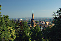 Glasgow and the Campsie Fells from Queen's Park, Glasgow