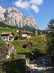 Italy, South Tyrol, Alto Adige, Dolomites, San Cassiano and Conturines mountains