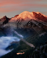 Mt. Rainier at sunsie from Sunrise Point. Mt. Rainier National Park, Washington