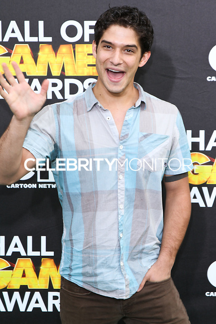 SANTA MONICA, CA, USA - FEBRUARY 15: Tyler Posey at the 4th Annual Cartoon Network Hall Of Game Awards held at Barker Hangar on February 15, 2014 in Santa Monica, California, United States. (Photo by David Acosta/Celebrity Monitor)