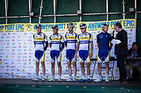 Team Sport Vlaanderen pre race team presentation<br /> <br /> Antwerp Port Epic 2019 <br /> One Day Race: Antwerp > Antwerp 187km<br /> <br /> ©kramon