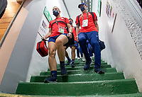 , MEXICO - : U-23 USMNT staff make they're way to the locker room during a game between  and undefined at  on ,  in , Mexico.
