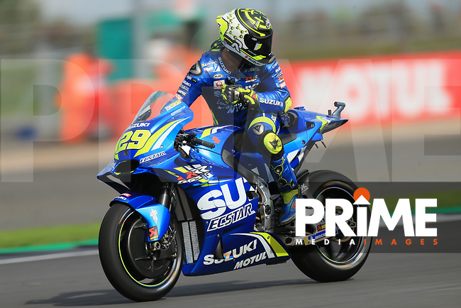 Andrea Iannone (29) of the Team SUZUKI ECSTAR race team during the GoPro British MotoGP at Silverstone Circuit, Towcester, England on 26 August 2018. Photo by Chris Brown / PRiME Media Images