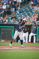Jose Herrera (23) of the Reno Aces at bat against the Salt Lake Bees at Smith's Ballpark on August 24, 2021 in Salt Lake City, Utah. The Aces defeated the Bees 6-5. (Stephen Smith/Four Seam Images)