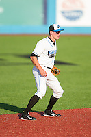 Hudson Valley Renegades shortstop Alec Sole (11) on defense against the Brooklyn Cyclones at Dutchess Stadium on June 18, 2014 in Wappingers Falls, New York.  The Cyclones defeated the Renegades 4-3 in 10 innings.  (Brian Westerholt/Four Seam Images)