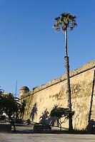 Stadtmauer von Alghero, Provinz Sassari, Nord - Sardinien, Italien