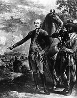 Liberte.  Conclusion de la Campagne de 1781 en Virginie.  To his Excellency General George Washington this Likeness of his friend, the Marquess de la Fayette, is humbly dedicated.  Copy of engraving by Noel le Mire, 1780's.  (Bureau of Ships)<br /> Exact Date Shot Unknown<br /> NARA FILE #:  019-N-1583<br /> WAR & CONFLICT BOOK #:  58