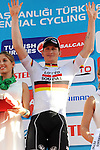 Andre Greipel (GER) Lotto-Soudal wins Stage 4 of the 2015 Presidential Tour of Turkey running 132km from Fethiye to Marmaris. 29th April 2015.<br /> Photo: Tour of Turkey/Mario Stiehl/www.newsfile.ie