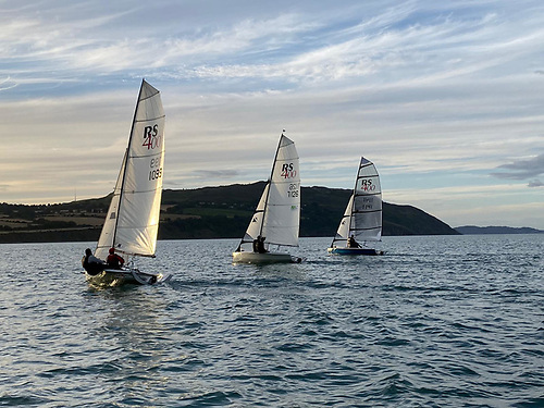 RS dinghy sailing in Greystones Bay, County Wicklow