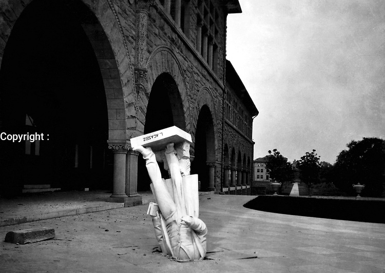 The earthquake also affected the campus of Stanford University in Palo Alto. The image of the fallen statue of geologist Louis Agassiz outside the Zoology building has since become one of the iconic images of the earthquake.<br /> <br /> San Francisco 1906 Earthquake  - The San Francisco earthquake of 1906 was a major earthquake that struck San Francisco and the coast of Northern California at 5:12 a.m. on Wednesday, April 18, 1906. Devastating fires broke out in the city and lasted for several days. As a result of the quake and fires, about 3,000 people died and over 80% of San Francisco was destroyed.<br /> <br /> The earthquake and resulting fire are remembered as one of the worst natural disasters in the history of the United States