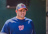 21 April 2013: Washington Nationals pitcher Craig Stammen stands in the dugout prior to a game against the New York Mets at Citi Field in Flushing, NY. The Mets shut out the visiting Nationals 2-0, taking the rubber match of their 3-game weekend series. Mandatory Credit: Ed Wolfstein Photo *** RAW (NEF) Image File Available ***