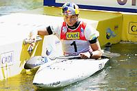4th September 2021; Parc Olimpic del Segre, La Seu D'Urgellm ICF Slalom World Cup, Women's Kayak Final; Event Winner Jessica Fox (AUS)