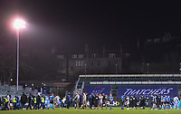 8th January 2021; Recreation Ground, Bath, Somerset, England; English Premiership Rugby, Bath versus Wasps; players shake hands after the match with Wasps winning 52-45