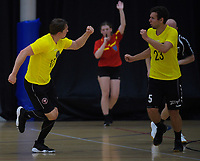 Action from the invitation handball match between New Zealand and Barbarians at ASB Sports Centre in Wellington, New Zealand on Sunday, 1 December 2019. Photo: Dave Lintott / lintottphoto.co.nz