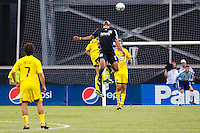 27 MAY 2009: #19 Ryan Johnson of the San Jose Earthquakes in action during the San Jose Earthquakes at Columbus Crew MLS game in Columbus, Ohio on May 27, 2009. The Columbus Crew defeated San Jose 2-1