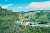 Winding Coastal Highway 1 near Jenner, California, USA