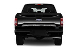 Straight rear view of 2018 Ford F-150 XL-SuperCrew 4 Door Pickup Rear View  stock images