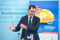 Bundesminister fuer wirtschaftliche Zusammenarbeit und Entwicklung, Dr. Gerd Mueller, CSU (im Bild), und der Bundesminister fuer Arbeit und Soziales, Hubertus Heil, SPD, luden am Dienstag den 14. Juli 2020 in Berlin zu einer gemeinsamen Pressekonferenz ein, um die Ergebnisse des Monitorings im Rahmen des Nationalen Aktionsplans Wirtschaft und Menschenrechte (NAP) zu kommentieren.<br /> 14.7.2020, Berlin<br /> Copyright: Christian-Ditsch.de<br /> NUR FUER REDAKTIONELLE ZWECKE! Werbung nur auf Anfrage beim Fotografen. [Inhaltsveraendernde Manipulation des Fotos nur nach ausdruecklicher Genehmigung des Fotografen. Vereinbarungen ueber Abtretung von Persoenlichkeitsrechten/Model Release der abgebildeten Person/Personen liegen nicht vor. NO MODEL RELEASE! Don't publish without copyright Christian-Ditsch.de, Veroeffentlichung nur mit Fotografennennung, sowie gegen Honorar, MwSt. und Beleg. Konto: I N G - D i B a, IBAN DE58500105175400192269, BIC INGDDEFFXXX, Kontakt: post@christian-ditsch.de<br /> Bei der Bearbeitung der Dateiinformationen darf die Urheberkennzeichnung in den EXIF- und  IPTC-Daten nicht entfernt werden, diese sind in digitalen Medien nach §95c UrhG rechtlich geschuetzt. Der Urhebervermerk wird gemaess §13 UrhG verlangt.]