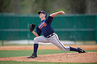 Atlanta Braves Taylor Hyssong (13) during a minor league Spring Training game against the Detroit Tigers on March 25, 2017 at ESPN Wide World of Sports Complex in Orlando, Florida.  (Mike Janes/Four Seam Images)