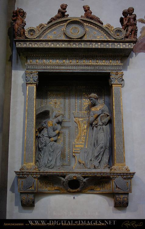 Annunciation Donatello 1435 Santa Croce Florence