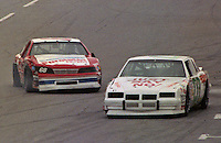 Derrike Cope Larry Moyer pits pit road action Pepsi Firecracker 400 at Daytona International Speedway in Daytona Beach, FL in July 1988. (Photo by Brian Cleary/www.bcpix.com)