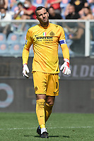Samir Handanovic of FC Internazionale reacts during the Serie A football match between UC Sampdoria and FC Internazionale at stadio Marassi in Genova (Italy), September 12th, 2021. Photo Image Sport / Insidefoto