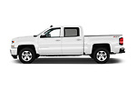 Car Driver side profile view of a 2018 Chevrolet Silverado-1500 LT-Z71-Crew 4 Door Pick-up Side View