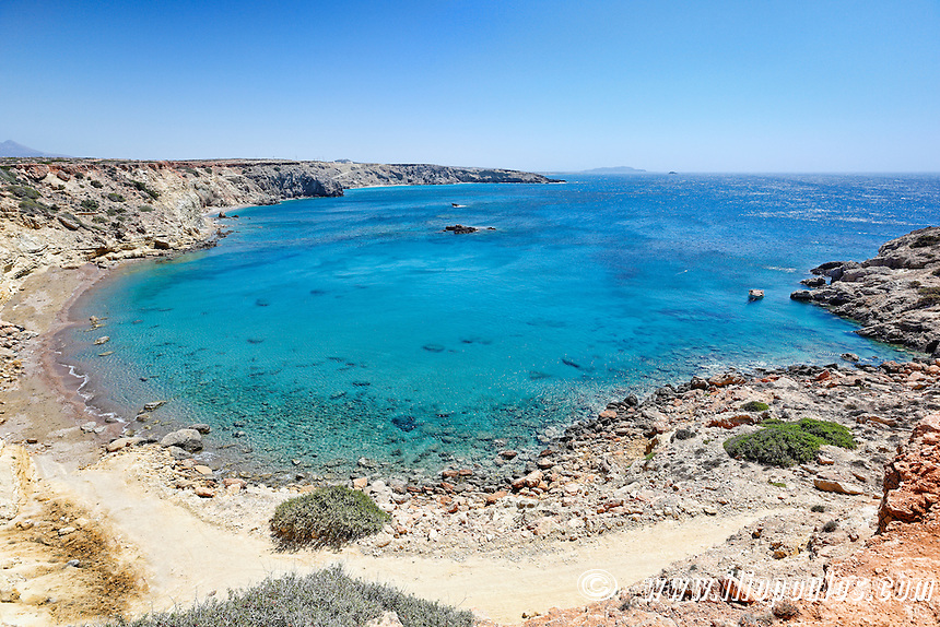 Agios Theodoros beach in Karpathos, Greece