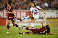 Jacksonville, FL - Thursday April 5, 2018: Christina Murillo, Alex Morgan, Kenti Robles during an International friendly match versus the women's National teams of the United States (USA) and Mexico (MEX) at EverBank Field.