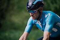 4-time Liège winner Alejandro Valverde (ESP/Movistar) <br /> <br /> 104th Liège - Bastogne - Liège 2018 (1.UWT)<br /> 1 Day Race: Liège - Ans (258km)