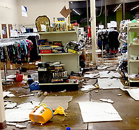 Photo Submitted The Siloam Springs Goodwill lost half of its inventory according to Cathy Manger-Nail, the regional director of retail operations.