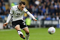 Connor Roberts of Swansea City crosses the ball during the Sky Bet Championship match between Cardiff City and Swansea City at the Cardiff City Stadium, Cardiff, Wales, UK. Sunday 12 January 2020