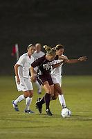 SAN ANTONIO, TX - SEPTEMBER 27, 2006: The Texas State University Bobcats vs. The University of Texas at San Antonio Roadrunners Women's Soccer at the UTSA Soccer Field. (Photo by Jeff Huehn)