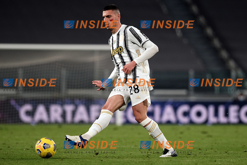 Merih Demiral of Juventus FC in action during the Serie A football match between Juventus FC and Cagliari Calcio at Allianz stadium in Torino (Italy), November21th, 2020. Photo Federico Tardito / Insidefoto