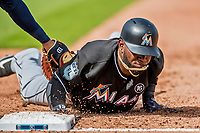 1 March 2017: Miami Marlins outfielder Marcell Ozuna in Spring Training action against the Houston Astros at the Ballpark of the Palm Beaches in West Palm Beach, Florida. The Marlins defeated the Astros 9-5 in Grapefruit League play. Mandatory Credit: Ed Wolfstein Photo *** RAW (NEF) Image File Available ***