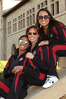 STANFORD, CA - OCTOBER 28:  Gayle Lee, Taylor Durand and Debbie Chen during picture day on October 28, 2009 in Stanford, California.