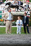 Steve Asmussen and family at Belmont Park on Belmont Stakes Day on June 11, 2011.