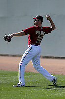 AJ Pollock of the Arizona Diamondbacks participates in spring training workouts at Salt River Fields on February 12, 2014 in Scottsdale, Arizona (Bill Mitchell)