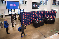 New York, New York - February 2, 2017: NWSL held a press conference in Manhattan announcing a broadcast partnership with A+E Networks.
