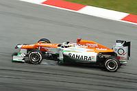 British Paul Di Resta on Force India VJM05 .24/03/2012 Grand Prix Malesia, Sepang , Essais..Foto Insidefoto  /Bernard Asset / Panoramic.ITALY ONLY..