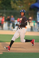 Rosell Herrera (7) of the Modesto Nuts runs the bases during a game against the Rancho Cucamonga Quakes at LoanMart Field on May 39, 2015 in Rancho Cucamonga, California. Rancho Cucamonga defeated Modesto, 13-2. (Larry Goren/Four Seam Images)