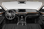 Stock photo of straight dashboard view of 2022 Acura MDX - 5 Door SUV Dashboard