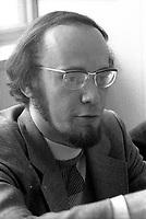 Yvon Charbonneau<br /> , President de la CEQ, le 27 mai 1974<br /> <br /> <br /> PHOTO : Agence Quebec Presse