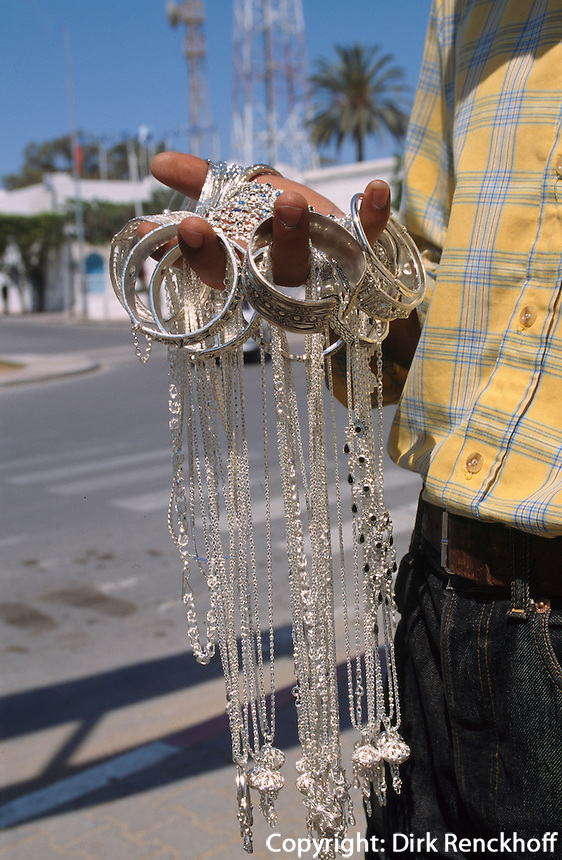Silberschmuck, Houmt Souk, Djerba, Tunesien