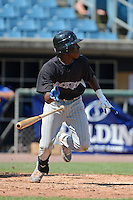 Nick Gordon (83) of Olympia High School in Windermere, Florida playing for the Colorado Rockies scout team during the East Coast Pro Showcase on August 2, 2013 at NBT Bank Stadium in Syracuse, New York.  (Mike Janes/Four Seam Images)