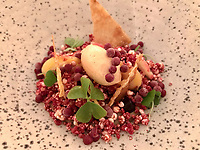 """The dish of """"Foie Gras Cereal: iced and creamy foie gras 