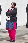 © Joel Goodman - 07973 332324 . 02/01/2012 . Salford , UK . Anuj's mother Yogini . The parents of Anuj Bidve visit the scene of Anuj Bidve's murder, on Ordsall Lane , where a memorial shrine of flowers, candles and messages has been built . Bidve was shot and killed by Kiaran Stapleton on 26 December 2011 . Photo credit: Joel Goodman