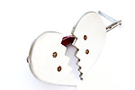 Title: Adjustable Heartbreak<br /> Materials: Steel C Clamp, Aluminum and Brass<br /> Size: <br /> Price: Sold