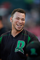 Dayton Dragons Pabel Manzanero (21) during a Midwest League game against the Kane County Cougars on July 20, 2019 at Northwestern Medicine Field in Geneva, Illinois.  Dayton defeated Kane County 1-0.  (Mike Janes/Four Seam Images)